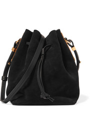 Nelson small suede bucket bag