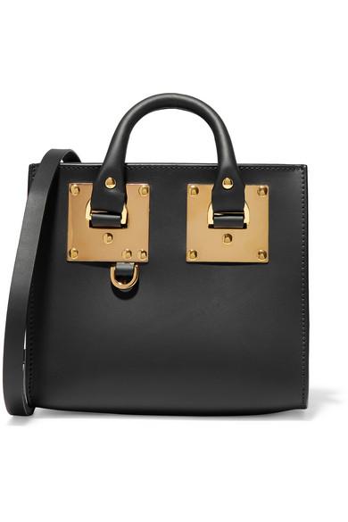 sophie hulme female sophie hulme albion box mini leather shoulder bag black