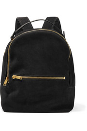 Wilson medium suede and leather backpack