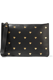 Talbot embellished leather pouch