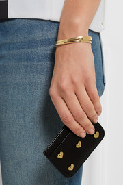 Rosebery embellished leather cardholder