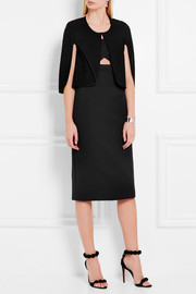 Hervé Léger Cropped-back stretch-bandage cape