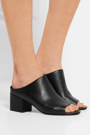 3.1 Phillip Lim Cube leather mules
