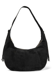 Zoe Large tasseled suede shoulder bag