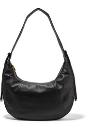 Zoe large tasseled leather shoulder bag