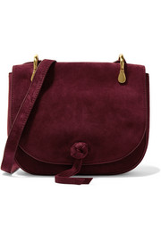 Zoe suede shoulder bag