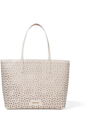 Elizabeth and James Daily laser-cut leather tote