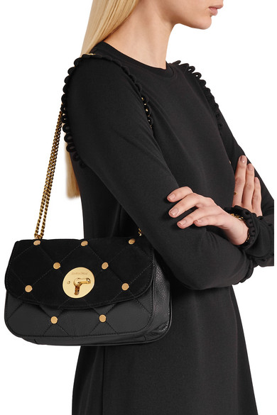 See By Chloé. Lois large quilted suede and leather shoulder bag. £190. Zoom  In 73abedf1994f3