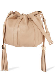 Vicki mini textured-leather bucket bag