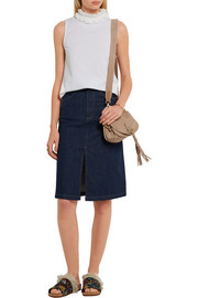 See by Chloé Collins small suede and textured-leather shoulder bag