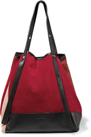Andy leather-trimmed suede tote