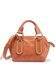 Paige small leather shoulder bag