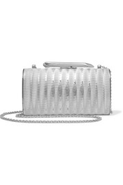 Bailey embossed silver-tone clutch
