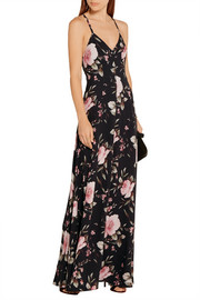 Alves floral-print crepe de chine maxi dress
