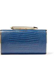 Kotur Bailey croc-effect leather clutch