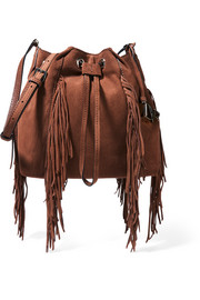 Voyage Boho fringed suede bucket bag