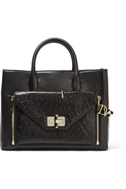 Secret Agent large convertible leather tote