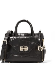 440 Gallery Secret Agent mini croc-effect leather shoulder bag
