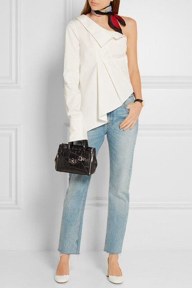 ff28131454 Diane von Furstenberg. 440 Gallery Secret Agent mini croc-effect leather  shoulder bag