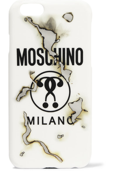 Moschino - Printed Acrylic Iphone 6 Case - White