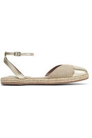 Sebille metallic leather-trimmed espadrilles