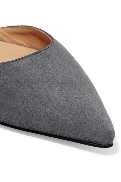 Paul mit Andrew | Rhea flache Schuhe mit Paul spitzer Kappe aus Veloursleder 78a967
