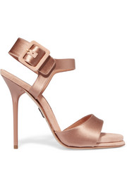 Kalida satin and suede sandals