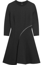 McQ Alexander McQueen Zip-detailed stretch-jersey mini dress