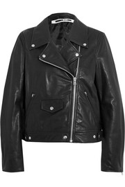 McQ Alexander McQueen Textured-leather biker jacket