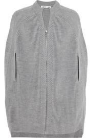 McQ Alexander McQueen Ribbed wool cape