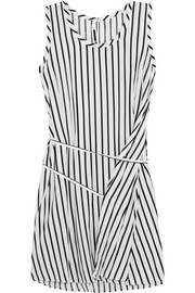 McQ Alexander McQueen Striped voile mini dress