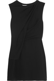 McQ Alexander McQueen Draped crepe mini dress