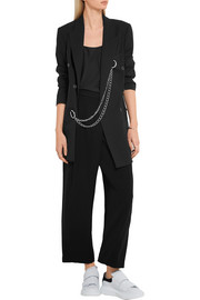 McQ Alexander McQueen Cropped crepe wide-leg pants