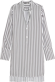 McQ Alexander McQueen Striped piqué shirt dress