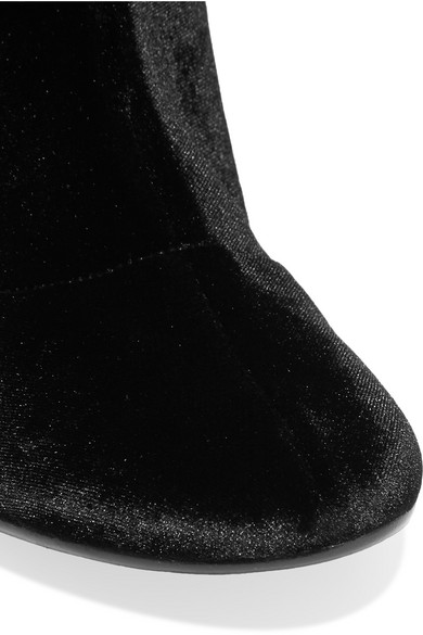 aa48ceccf10 MM6 Maison Margiela. Stretch-velvet over-the-knee boots.  337.50. Zoom In