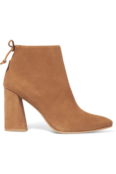 Grandiose Suede Ankle Boots by Stuart Weitzman