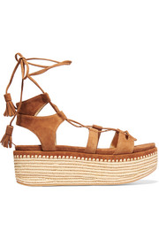 Romanesque suede platform sandals