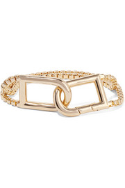 Allure Clip gold-plated bracelet