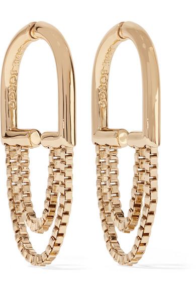 Eddie Borgo - Allure Chain Gold-plated Hoop Earrings