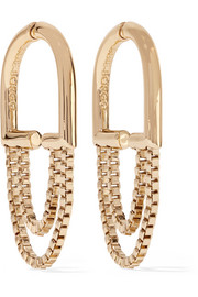 Eddie Borgo Allure Chain gold-plated hoop earrings