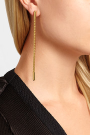 Eddie Borgo Idle Line gold-plated earrings