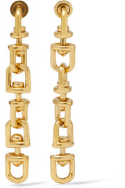 Eddie Borgo Frame Link gold-plated earrings