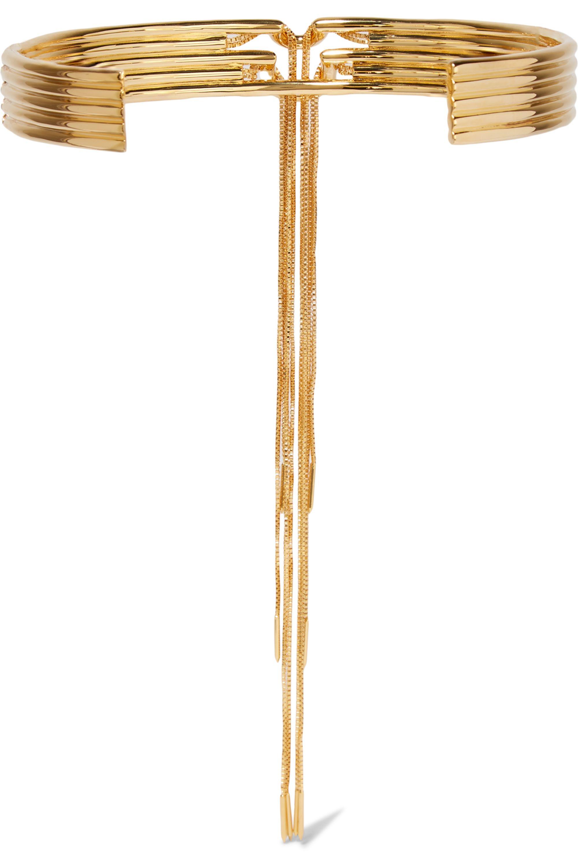Eddie Borgo Neo tasseled gold-plated choker