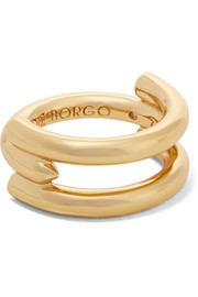 Idle gold-plated ring