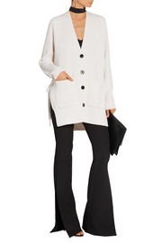 Proenza Schouler Tie-side wool and cashmere-blend cardigan