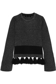 Proenza Schouler Tasseled stretch-bouclé sweater