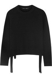 Tie-side wool and cashmere-blend sweater