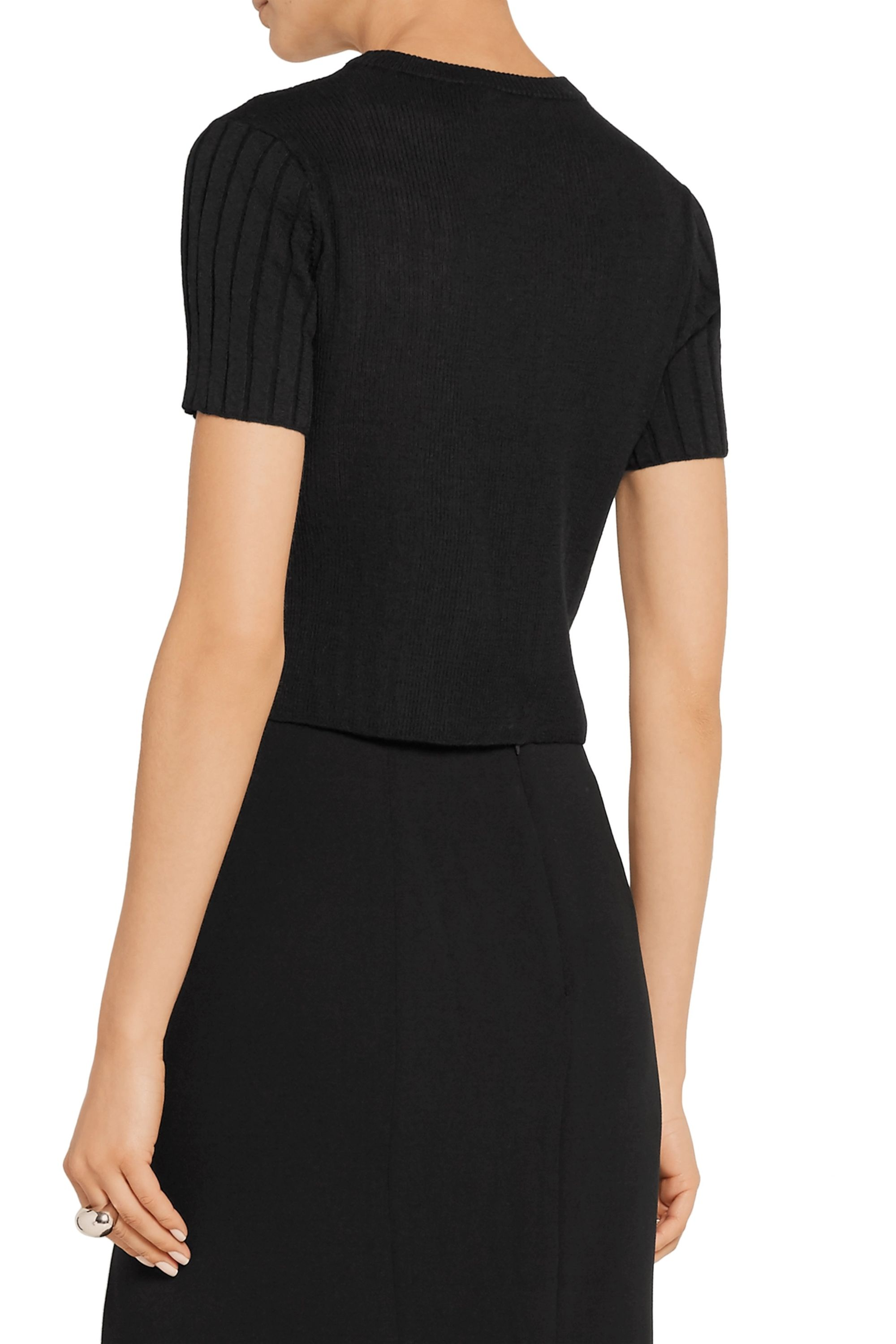 Proenza Schouler Cropped ribbed wool sweater