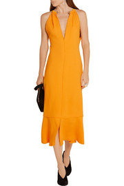 Proenza Schouler Fluted crepe midi dress