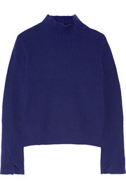 Proenza Schouler Ribbed wool and cashmere-blend turtleneck sweater